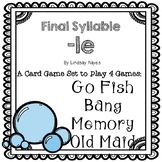 4 in 1 Card Games with Final Syllable -le