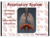 4 in 1 Human respiration  mind maps, double puzzles and cr