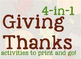 4-in-1 Thankful Pack for Thanksgiving