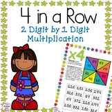 4 in a Row- 2 Digit By 1 Digit Multiplication Games