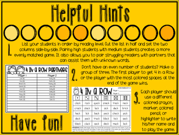 4 in a Row: Final -ck Edition {Print and Go Partner Game}