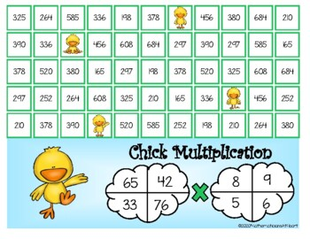 4 in a Row Multiplication and Division Bundle