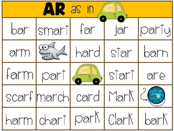 4 in a Row - R Controlled Vowels