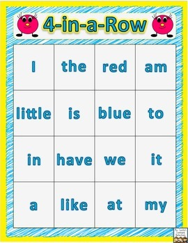 4-in-a-Row Sight Word Practice Game