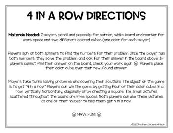 4 in a Row Subtraction Bundle