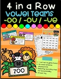 4 in a Row- Vowel Teams -oo/-ou/-ue