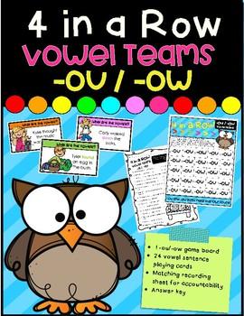 4 in a Row- Vowel Teams -ou/-ow