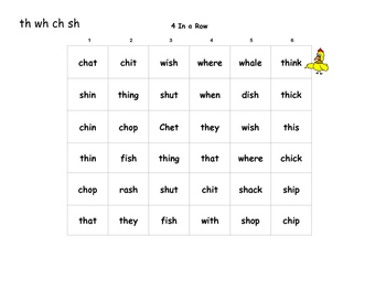 4 in a Row digraph, glued sounds, bd for RTI