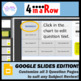 4 in a Row for Google Slides Quiz Game (Editable Template)