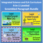 4-in-1 Leveled Scrambled Paragraph Bundle: Integrated Scie