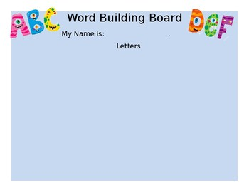 4 letter word building board
