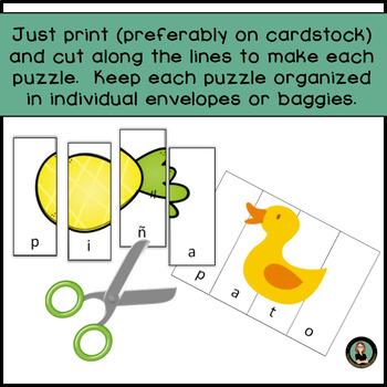 Spanish 4 letter words puzzles Palabras de cuatro letras, Rompecabezas A-Z
