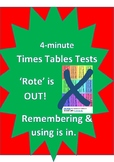 4 minute times tables tests - making multiplication tables tests easy to do