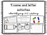 4 name and letter activities / / / identifying and writing