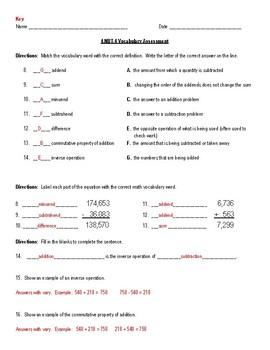 4.nbt.4 Vocabulary Assessment