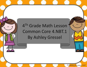 4.nbt1 Math Lesson