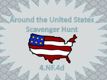 4.nf.4d scavenger hunt (word problems)