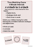 Time - 4 o'clock to 5 o'clock by 5 minute intervals