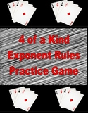 4 of a Kind Exponent Rules Game