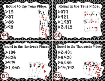 4 of a Kind Task Cards for Math Test Prep