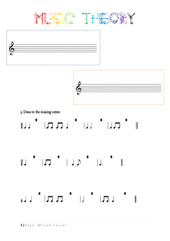 4 page music worksheets!