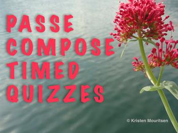 4 passé composé timed quizzes - assessment
