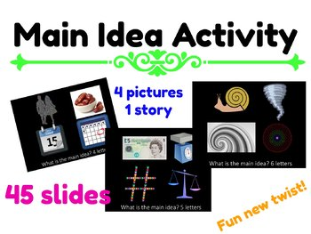 4 pictures, 1 story Main Idea Powerpoint