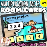 4's Multiplication Facts BOOM Cards | Digital Task Cards