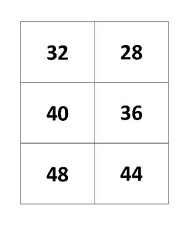 4's Multiplication Flashcards