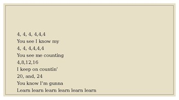 4's Multiplication Song (To The Tune Of Rihanna's Work)