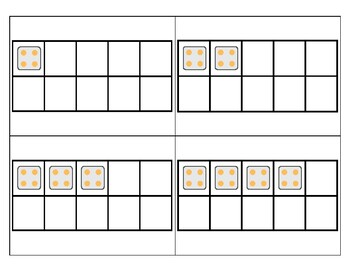 4's Subitizing Multiplication Flashcards