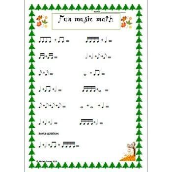 4 seasons FUN music math!