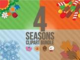 4 seasons clip art Bundle