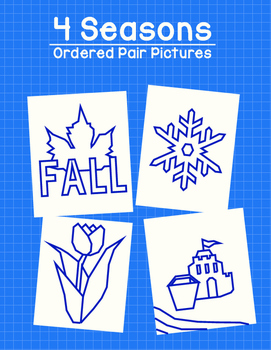 4 seasons ordered pair picture pack