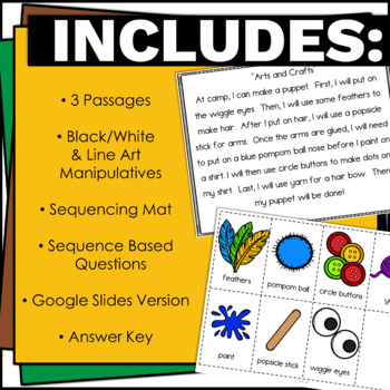 Sequencing Activities with Lesson Plan K, 1, or 2nd grade