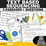 Text Based Sequencing Activities with Lesson Plan K 1 or 2