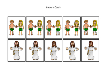 4 sets of Bible Pattern Cards Printable Christian Game. Preschool-Kindergarten.