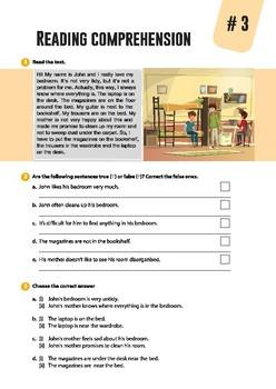 4 short reading comprehensions
