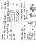 4 square Quick Check for Kindergarten