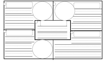 4 square writing organizer