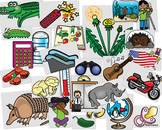 4 syllable words clipart