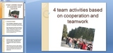 4 team activities based on cooperation and teamwork