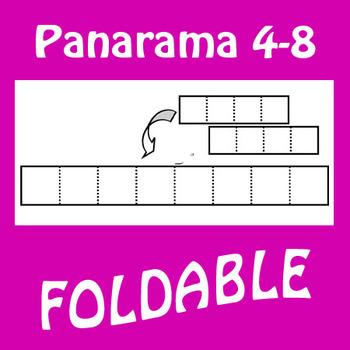 4 to 8 Panel Panoramic Foldable Graphic Organizer