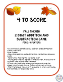 4 to Score - Adding and Subtracting 2 digit numbers