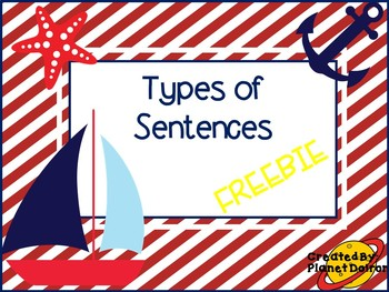 4 types of sentences and proofreading grammar anchor charts FREE