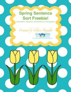 4 types of sentences freebie!