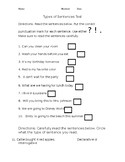 4 types of sentences test