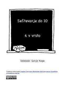 4 v vrsto - seštevajmo do 10 - Slovenian version
