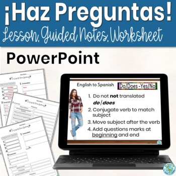 4 Ways to Form Questions: Editable PowerPoint Lesson/Practice/Guided notes