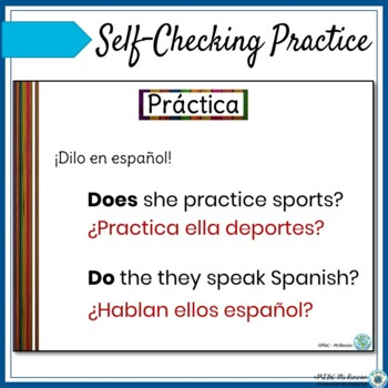 Spanish Question Words PowerPoint